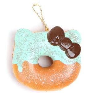 *NWT* Hello Kitty Squish Keychain Half Donut Mint